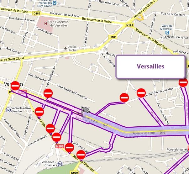 Versailles Paris Map Versailles Map